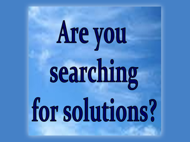 Are you searching for solutions?
